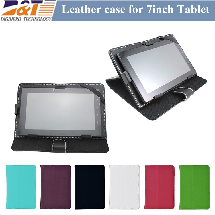 Cheap Universal PU Leather 7 Inch Tablet Case Flip Cover Stand for 7 Inch Tablet PC(China (Mainland))
