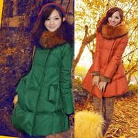 Free shippinmg! 2013 winter new fashion women's plus size S-5XL thickening down jacket coat outwear women down parkas  A010