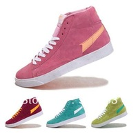 2012 Blazer lovers high Skateboarding shoes Classic High Quality Woman Multicolor Skate Shoes NK athletic shoes size 36-39