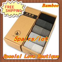 Free Shipping Fashion Men's Socks Business Hosiery For Men Popular Bamboo Fiber Socks Mens Socks For Men 10pieces=5pairs=lot