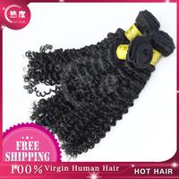Hot Hair Mixed Length 3pcs/lot Virgin Peruvian Hair Deep Curly Hair, Unprocessed Peruvian Virgin Hair natural color