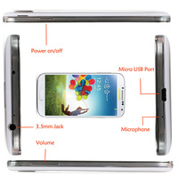 2014 NEW i9500 5inch Android 4.0 MTK6517 1GHz s4 Smart Phone Dual Sim Dual Cameras WIFI 9500 Smart Phone Free Shipping
