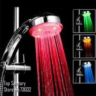 7 color auto change Romantic LED Lighting Hand shower Bathroom Rain Shower Head massager chuveiro ducha douche banheiro 9048-2(China (Mainland))