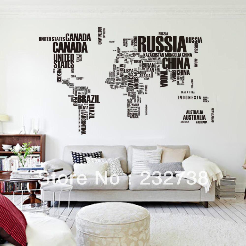 Aliexpresscom Buy English alphabet world map large wall