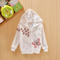 2014 children's coats baby hoodies for girls outerwear long-sleeved hooded jacket tops girl Hoodies