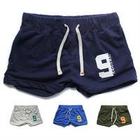 Newest mens cotton gym shorts Men Sport shorts Lounge trunk boxers S/M/L/XL active wear male homewear