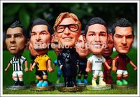 "10PCS/LOT FOOTBALL 2.5"" Figurine (Mixed Order) Doll Toy Figure 2014-2015 Season"