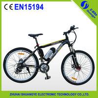 Free shipping 36V 250W 26 inch Ebike Mountain Bike With Bottle Battery BIO-DL