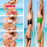 2013 Hot Sale Swimwear Women V Metal Padded Swimsuit Fashion Lady Bikini Set