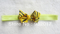 Free Shipping 6Colors Infant baby Kids girls zebra chunky bow headband