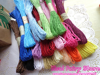 Rainbow Raffia Paper String for Gift Wrap & Deco, DIY Colorful Paper String 25~30m/bundle  18pcs/lot (540m) Free Shipping