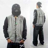 Mens Hoodie Coat Jacket Baseball Uniform Thick Fleece Sport Jersey Autumn/Winter LA Brand Sweatshirt Outdoor Black/Gary