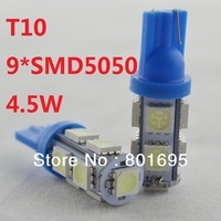 Free Fedex DHL shipping car T10 5W 9 SMD 5050 LED lamp 12V  Bulb Lamp Light clearance license plate car door reading light