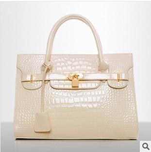 3815 2013 New Women's handbag light  fashion bag crocodile pattern handbag messenger bag