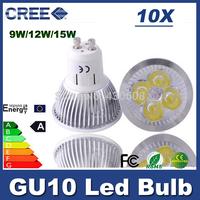 High cree GU10 LED spot light AC85-265V 600LM gu 10 led spotlight 220v 110v  9W 12w 15w led lamp led downlight 2 years warranty