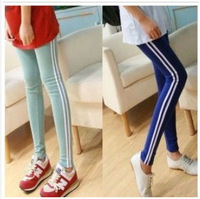 New Arrival 8 Colors For Women White Stripes In Side Leggings Slim And Casual For Autumn & Winter Pants High Quality WL006