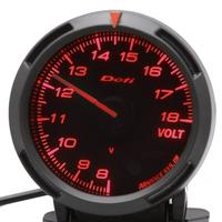 2.5 INCH 60MM Defi Voltage Gauge Defi BF Gauge Car Meter Volt Voltage Meter Red and White Light Fast Shipping