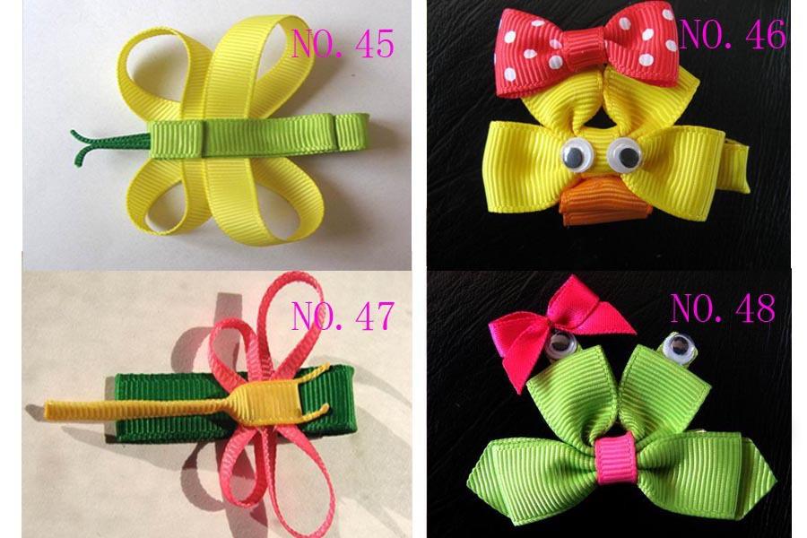 Free shipping Kids Sculpture Ribbon bow Baby grosgrain hair clip Children animal clips Christmas Tree Pumpkin(China (Mainland))