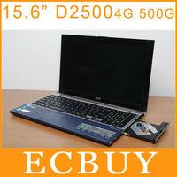 "15.6"" Laptop Netbook Ultrabook Gaming Computer Intel Atom D2500 Dual Core 1.86GHz 4GB 500GB DVD-ROM 1080P HDMI Bluetooth Webcam"