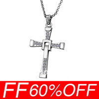 [Free Shipping For 20 Pcs] 2013 New Pendant Wholesale fashion jewelry Fast & Furious Toretto Men Classic Style CROSS Necklace
