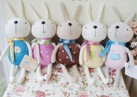Free shipping wholesale 12cm length 6pcs/lot 6 colors mixed lovely rabbit plush toys Promotional wedding gift phone accessories