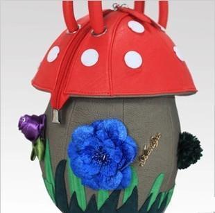 Free shipping 2013 Ladies fashion handbags candy personality trend princess bag Mushroom Bag women designer High Quality Tote