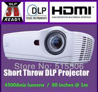 "New Arrival !! Full HD 4500Lumens XGA  short throw DLP education Projector 1.3m@100""inch with 230W Ultra-Pressure Mercury Lamp"