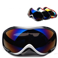 2014 Anti-fog Skiing Mirror Double Layer Antimist Spherical Polarized Skiing Goggles For Women  Men With Box red 607