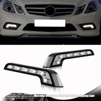 2PCS 6 LED UNIVERSAL FIT L SHAPE DAYTIME RUNNING LIGHT DRL 12V FRONT BUMPER GRILLE INSERT BRIGHT TURN SIGNAL LAMP FREE SHIPPING