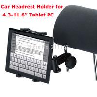 "Free Shipping HK 2014 New Car Headrest Holder for 4.3 - 11.6"" Tablet PC / Smartphone Car Backseat Bracket 360degree Rotating"