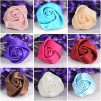 Cheap-fine 50pcs  22mm*14mm Satin Ribbon Rose Flower Appliques Hair Accessories,Wedding Decorations,DIY Accessories