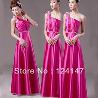 AQ Fashion Long design formal dress toast evening dress rose color formal dress slim