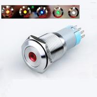 For Car or boat Fog Light ,start button  60pcs 16mm 12V 24v 6v 110v 220v LED illuminated maintained push button Latching Switch