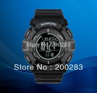 Free shipping Sunroad FR821B 3ATM Digital EL Backlit w/altimeter+barometer+compass+world time+stopwatch sport watch - Grey B B