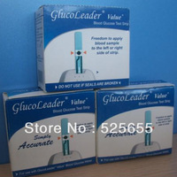 Promotion ! No Painless100 Pcs Blood Glucose/Sugar Meter Test Strips for Glucoleader VALUE Diabetes Medical Device FREE SHIPPING