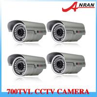 "4pcs 1/3"" SONY 700TVL Color CCD High Resolution CCTV Surveillance Varifocal Outdoor Day&Night IR Camera"