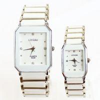 Watches Ceramic White Women New Hot Sale Popular Fashion Rhinestone Wrist Quartz Lovers Men Women Girl Unisex Free shipping