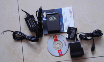 Factory supply! GPS Tracker TK102 with 1 PC Battery + Car Charger, TK102B, simple packing ,only one battery  and power