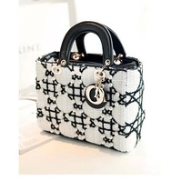 women lady vintage famous brand  Elegant Velvet pearl  children's totes bag kids black handbags coin purse wallet winter bags