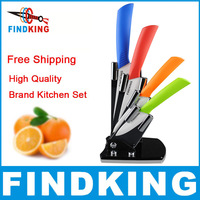 "High quality 3"" 4"" 5"" 6"" inch brand Paring Fruit Utility Chef Kitchen Ceramic Knife Sets + Acrylic Holder Block + free shipping"
