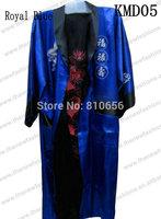 Free Shipping Fast 2013 Hot Sales Silk Satin Men Silk Satin Kimono Robes Reversible Two-face Dragon  S M L XL XXL XXXL MOQ 1pc