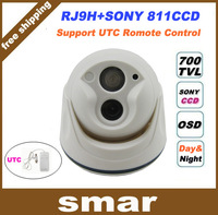 2013 New 1/3'' Sony CCD 700tvl LED Array IR indoor 960H Security CCTV dome camera surveillance camera free shipping