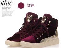 2013New Fashion Joker Leopard Skull Brand Sneaker for Women Height increase Sneaker for Women  Casual shoes Sneakers  201