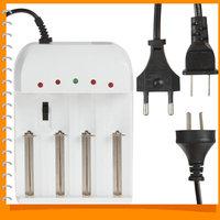 4 Port Gradually Adjustable Universal Battery Charger for 26650 18650 14500 10440 AA  AAA etc Battery - US / UK / EU AC Plug