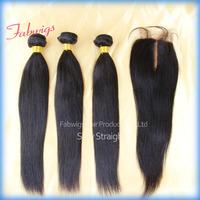 Brazilian Virgin Hair Extension Lace Top Closure With Brazilian Hair Virgin Bundles 3.5x4 Straight  Middle Part Lace Closure