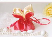 Hot Sale Lucky clover bag marsilea quadrifolia satin brocade wedding candy bag wedding accessories party favors baby shower gift
