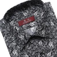 Autumn Mens long sleeve shirt men's casual suit floral jacquard shirt original design $ 14 free shipping