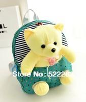 children backpacks kids cartoon  backpack animal baby bag kindergarten small school bag plush teddy bear doll toy package