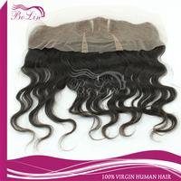 Cheapest virgin Brazilian Hair 12*4 wave lace frontal wavy lace frontal  middle part brazilian frontal
