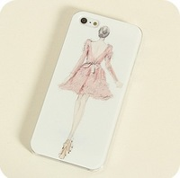 Free shipping new arrival  aesthetic elegant figures Illustration pretty Lady cover for i phone 5 cases for apple iphone 5